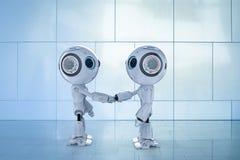 Κούνημα χεριών ρομπότ ελεύθερη απεικόνιση δικαιώματος