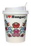 Κούπα εγγράφου καφέ που απομονώνεται Στοκ Εικόνες