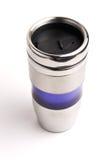 Κούπα καφέ Thermos που απομονώνεται στο λευκό Στοκ Φωτογραφίες