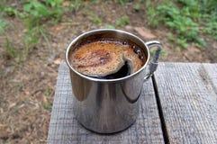 κούπα μετάλλων καφέ Στοκ εικόνες με δικαίωμα ελεύθερης χρήσης