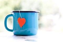 Κούπα με teabag στοκ εικόνα