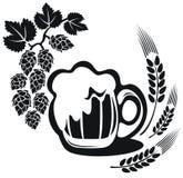 Κούπα μπύρας με το αυτί σίτου Στοκ Εικόνες