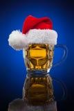 Κούπα μπύρας Χριστουγέννων Στοκ Εικόνα