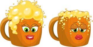 κούπα μπύρας Διανυσματική απεικόνιση