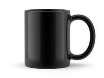 Κούπα που απομονώνεται μαύρη Στοκ εικόνα με δικαίωμα ελεύθερης χρήσης