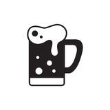 Κούπα της λεπτής γραμμής εικονιδίων μπύρας για τον Ιστό και κινητός Στοκ φωτογραφίες με δικαίωμα ελεύθερης χρήσης