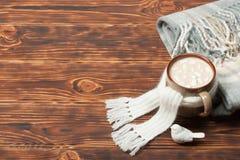 Κούπα της καυτού σοκολάτας ή του καφέ με Marshmallows Στοκ Εικόνα