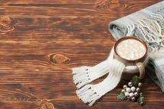 Κούπα της καυτού σοκολάτας ή του καφέ με Marshmallows Στοκ Φωτογραφίες