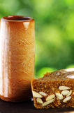 Κούπα της μπύρας, ψωμί των σύκων Στοκ φωτογραφίες με δικαίωμα ελεύθερης χρήσης