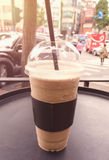 Κούπα του καφέ frappe Στοκ εικόνα με δικαίωμα ελεύθερης χρήσης