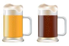 Κούπα δύο της μπύρας Στοκ φωτογραφία με δικαίωμα ελεύθερης χρήσης