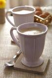 κούπες καφέ καφέδων latte στοκ εικόνες