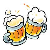κούπες μπύρας Στοκ Εικόνα