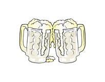 Κούπες μπύρας Στοκ Εικόνες