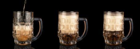 Κούπες της μπύρας Στοκ φωτογραφία με δικαίωμα ελεύθερης χρήσης