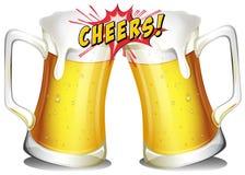 Κούπες των μπυρών Στοκ Εικόνες