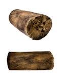Κούτσουρο που απομονώνεται ξύλινο Στοκ εικόνα με δικαίωμα ελεύθερης χρήσης