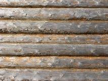 κούτσουρο σπιτιών ανασκόπησης Στοκ Φωτογραφίες