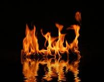 κούτσουρο φλογών πυρκα& Στοκ Εικόνα