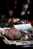 Κούτσουρο Yule Χριστουγέννων Στοκ φωτογραφία με δικαίωμα ελεύθερης χρήσης