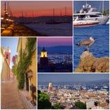 Κολάζ Αγίου Tropez στοκ εικόνες