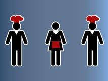 Κολάζ ανθρώπων εστιατορίων Στοκ Εικόνα