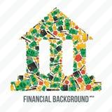 Κολάζ από τα οικονομικά στοιχεία Στοκ Εικόνες
