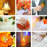 Κολάζ από τις γαμήλιες φωτογραφίες Στοκ φωτογραφίες με δικαίωμα ελεύθερης χρήσης