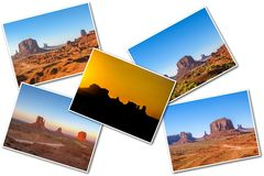 Κολάζ εικόνων κοιλάδων μνημείων στοκ φωτογραφία