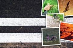 Κολάζ εικόνων ποδηλάτων Στοκ εικόνες με δικαίωμα ελεύθερης χρήσης