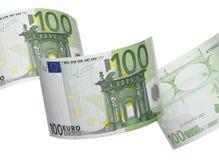 Κολάζ εκατό λογαριασμών που απομονώνεται στο λευκό Στοκ φωτογραφία με δικαίωμα ελεύθερης χρήσης