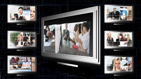 Κολάζ επιχειρησιακού μήκους σε πόδηα απόθεμα βίντεο