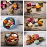 κολάζ κέικ ζωηρόχρωμο Στοκ φωτογραφίες με δικαίωμα ελεύθερης χρήσης