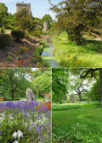 Κολάζ κήπων κάστρων κολακείας Στοκ Φωτογραφίες