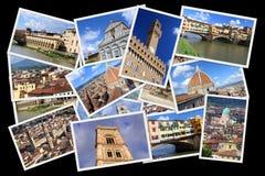 Κολάζ καρτών της Φλωρεντίας Στοκ εικόνες με δικαίωμα ελεύθερης χρήσης