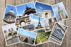 Κολάζ καρτών του Παρισιού Στοκ εικόνες με δικαίωμα ελεύθερης χρήσης