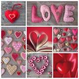 Κολάζ καρδιών Στοκ Εικόνες