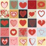 Κολάζ καρδιών Στοκ Φωτογραφίες