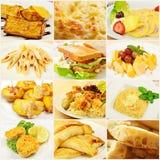Κολάζ με τα γεύματα στοκ εικόνες με δικαίωμα ελεύθερης χρήσης
