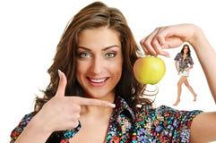 Apple και γυναίκα Στοκ φωτογραφίες με δικαίωμα ελεύθερης χρήσης