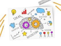 Κολάζ που εκφράζει την έννοια της επιχειρησιακής επιτυχίας Στοκ Εικόνες