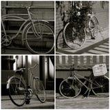 Κολάζ ποδηλάτων Στοκ Εικόνες