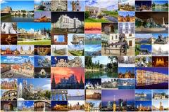 Κολάζ σημαντικών θελγήτρων της Ευρώπης στοκ φωτογραφία