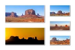 Κολάζ της Αριζόνα κοιλάδων μνημείων στοκ φωτογραφίες