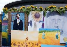 Κολάζ της τέχνης ανεμιστήρων του Βαν Γκογκ Στοκ φωτογραφία με δικαίωμα ελεύθερης χρήσης
