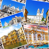 Κολάζ της όμορφης Ιταλίας Στοκ εικόνες με δικαίωμα ελεύθερης χρήσης