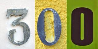Κολάζ του αριθμού τριακόσια Στοκ φωτογραφία με δικαίωμα ελεύθερης χρήσης