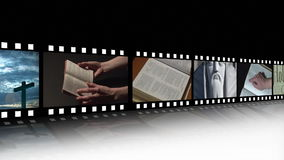 Κολάζ του θρησκευτικού μήκους σε πόδηα απόθεμα βίντεο