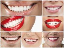 Κολάζ του χαμόγελου ανθρώπων στοκ φωτογραφία