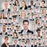 Κολάζ του χαμόγελου Businesspeople στοκ φωτογραφία